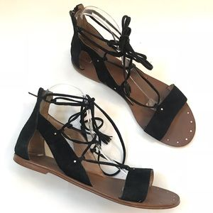 Madewell Bridget Gladiator Leathe lace up Sandal 8